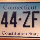 Connecticut Triple Digit 4 license plate Repeating Number 444 ZFE CT