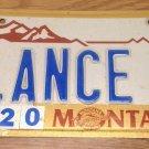 Montana vanity LANCE 1 license plate Lancelot Amstrong Lanzo Lantz Launce Lanza