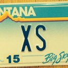 Montana vanity XS EXCESS license plate Over Too Much Song Insurance Chemistry MT
