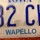 Iowa Wapello County License Plate Indian Chief Native American Fox Tribe tr