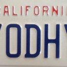 California vanity A YOD HYA license plate