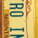 MT vanity TRO INS Instrument license plate