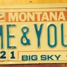 Montana Centennial vanity YOU license plate