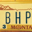 Montana Centennial vanity BHP BE HP Hewlett Packard license plate
