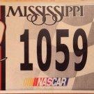 NASCAR TONY STEWART driver #20  license Plate #1059 Stock Car Racing Race