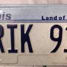ILLINOIS vanity NRIK Enrique Porsche 912 license plate Sports Car Enrico Rick