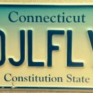 Connecticut vanity DJL Dame Juliana League FLY Fisher license plate Fishing Fish