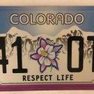 COLUMBINE HIGH SCHOOL MASSACRE RESPECT LIFE license plate 41 OTJ Gun Violence CO