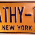 New York vanity CATHY 17 license plate Catherine Catie Katie Kathryn