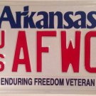 AIR FORCE ENDURING FREEDOM VETERAN license plate War Terrorism Pilot Mitary WOC