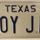TX vanity ROY JR JUNIOR license plate 1985 Leroy Elroy Roe