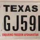 ENDURING FREEDOM AFGHANISTAN WAR VET license plate military Medal Veteran Afghan