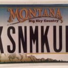 MT anity KISS N MAKE UP license plate Song Music Love Romance Wedding family