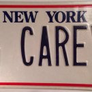 New York Liberty vanity G CAREY license plate Cary Carrie Caroline Cari Carlene