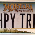 Vanity HAPPY TRUCK license plate GMC Chevy Ford Dodge Driver Toyota Nissan Ram