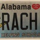 TEACHER vanity RACH RACHEL license plate Rachele Rae Raquel Rachell Rochelle Ray