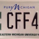 EASTERN MICHIGAN UNIVERSITY EAGLES license plate EMU Ypsilanti Swoop Eagle CFF