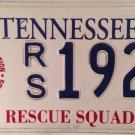 RESCUE SQUAD EMERGENCY MEDICAL TECHNICIAN license plate EMT EMS Firefighter Fire