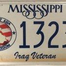 IRAQ WAR VETERAN license plate Iraqi Desert Storm Shield Persian Gulf vet Medal