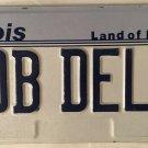 Vanity BOB ROBERT DEL license plate Robert Bobby Rob Robby Bobbie Roberta Robin