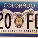 Colorado ROTARY International Club license plate Rotarian Service Above Self FGD