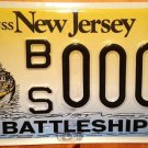 USS JERSEY BATTLESHIP license plate USN Warship Navy Vet Sea Sailor Museum BB-62