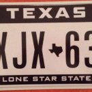 Texas Lone Star State Specialty optional license plate Map Star CJX 63
