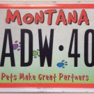 ANIMAL FRIENDLY PETS PET license plate ADW 401 Dog Cat Kitten Puppy Dogs K9 Cats