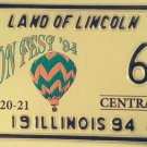 HOT AIR BALLOON #6 single Digit license plate Ballooning Low Number Sky Fly Trip