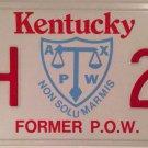 HANDICAP FORMER POW Prisoner Of War license plate Ex EPW Missing Action PW MIA