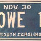Vanity HOWE 11 license plate Howard Howie Ward Howell 2011 Howy Howey