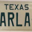 TX vanity KARLA L license plate 1980 Karl Carla Karleen Karley Karlee