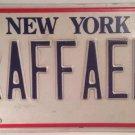 New York vanity RAFFAELLE license plate Raffael Rafael Raphael Raffaella Rafe