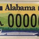Alabama HANDICAP MOTORCYCLE 00000 PROTOTYPE license plate sample repeating 0