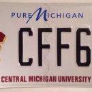 CENTRAL MICHIGAN UNIVERSITY license plate College CFF 69