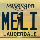 Vanity MELI MELISSA license plate Amelia Melanie Mellie Melinda Mel Lissa Missy