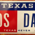 Texas 4 Ever vanity PO S POS DAD License Plate Father Family Son Kung Fu Panda