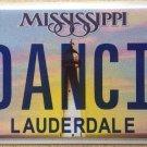 MS vanity 1 DANCING  license plate Dance Square Rock Ballet Disco Tutu Ballerina