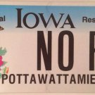 IA vanity NO R license plate Regrets Reason Rest Ring Right Rose Rule Run Return