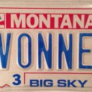 MT Centennial vanity YVONNE S license plate Ivonne Evonne Yvonna Eyvonne Eevonne