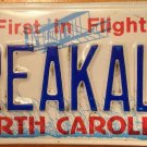 NC vanity BREAK A LEG license plate Good Luck Lucky Theater stage actor musician