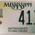 DISTINGUISHED FLYING CROSS license plate Pilot Plane 413 Medal Air Force USAF DC