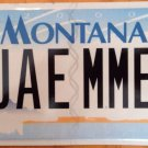 Montana vanity JAMMY Jay ME license plate James Jimmy Jim Jamy Jamie