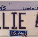 Vanity ELLIE 45 license plate Elise Eleanor Elaine Ellen Eloise Elizabeth