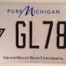 Michigan GRAND VALLEY STATE UNIVERSITY license plate Lakers Allendale College MI