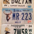 Set Of 3 WILDLIFE DEER license plate Wild Animal GAME Hunting Hunter Sportsman