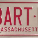 Massachusetts vanity BART W license plate Barton Bartholomew Bartram Bertie Bert