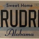 AL vanity TRUE DREAM license plate Sports Muscle Classic car Boat house wife wed