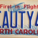 NC vanity BEAUTY 4 YOU license plate Classic Muscle Car Sports Harley Chevy Ford