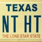 Vanity DON'T HATE license plate Hatred Loathe LOVE Religion Jesus Like Church